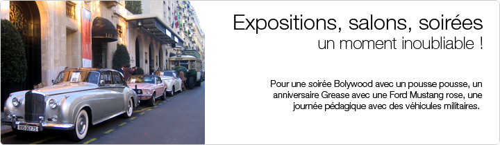 EXPOSITIONS, SALONS, SOIREES