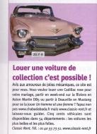 Louer une voiture de collection c'est possible !