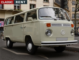 location volkswagen combi beige de 1970 louer volkswagen. Black Bedroom Furniture Sets. Home Design Ideas