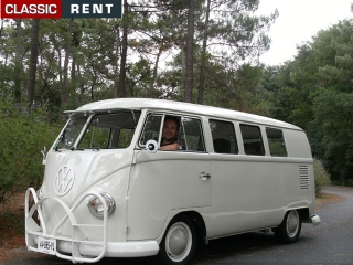 location volkswagen combi beige de 1967 louer volkswagen. Black Bedroom Furniture Sets. Home Design Ideas