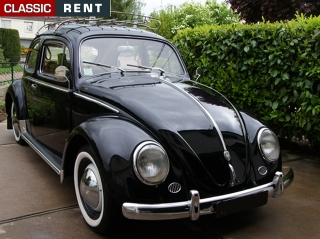 location volkswagen coccinelle noir de 1958 louer volkswagen coccinelle noir de 1958. Black Bedroom Furniture Sets. Home Design Ideas