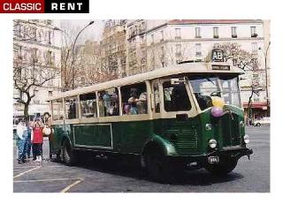 location bus parisien de transport urbain tn4 vert de 1930 louer bus parisien de transport. Black Bedroom Furniture Sets. Home Design Ideas