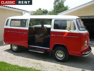 location volkswagen combi rouge de 1975 louer volkswagen combi rouge de 1975. Black Bedroom Furniture Sets. Home Design Ideas