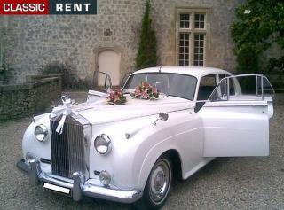 location rolls royce silver cloud blanc de 1955 - Location Rolls Royce Mariage