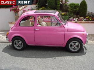 location fiat 500 rose de 1972 louer fiat 500 rose de 1972. Black Bedroom Furniture Sets. Home Design Ideas