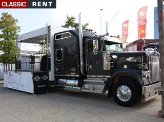 location camion am ricain us truck camion podium noir de. Black Bedroom Furniture Sets. Home Design Ideas