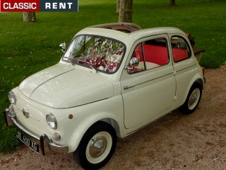 location fiat 500 beige de 1961 louer fiat 500 beige de 1961. Black Bedroom Furniture Sets. Home Design Ideas