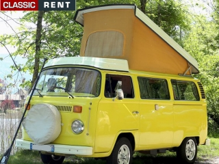 location volkswagen combi jaune de 1978 louer volkswagen. Black Bedroom Furniture Sets. Home Design Ideas