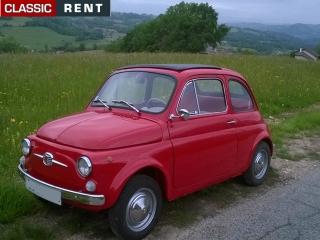 location fiat 500 rouge de 1967 - Location Fiat 500 Mariage