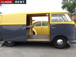 location volkswagen combi jaune de 1965 louer volkswagen combi jaune de 1965. Black Bedroom Furniture Sets. Home Design Ideas