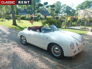 location porsche 356 blanc de 1957 louer porsche 356 blanc de 1957. Black Bedroom Furniture Sets. Home Design Ideas