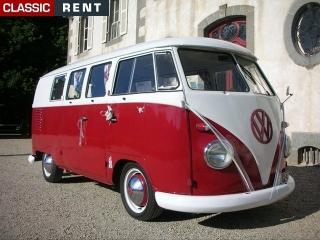 location volkswagen combi rouge de 1961 louer volkswagen combi rouge de 1961. Black Bedroom Furniture Sets. Home Design Ideas