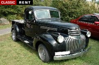 location chevrolet pickup noir de 1946 louer chevrolet. Black Bedroom Furniture Sets. Home Design Ideas