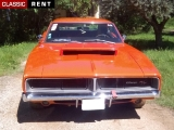 Louer une DODGE Charger Orange de 1969