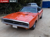 Louer une DODGE Charger Orange de 1970