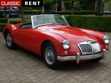 Louer une MG Mga Rouge de 1958
